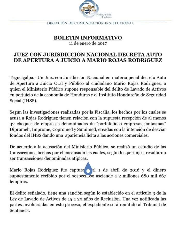 Boletin Mario Rojas