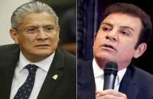 Esdras Amado Lopez y Salvador Nasralla