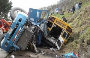 Accidente carretera al Sur