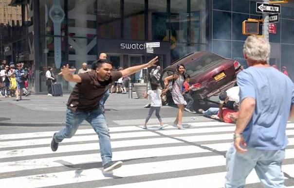 Arrollamiento en Times Square