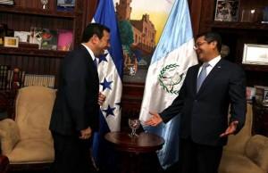 Juan Orlando Hernandez y Jimmy Morales