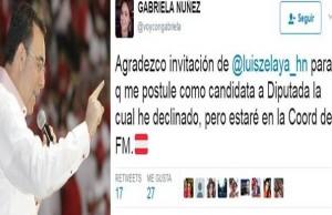 Tweet Gabriela Nunez