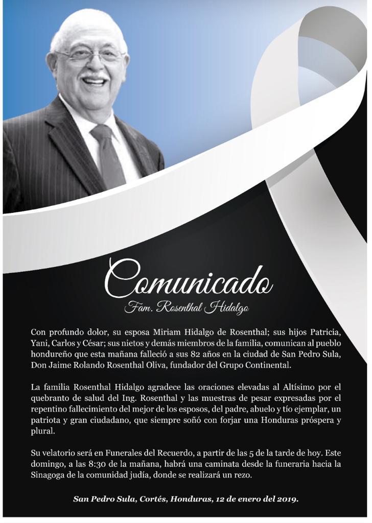 COMUNICADO-ROSENTHAL
