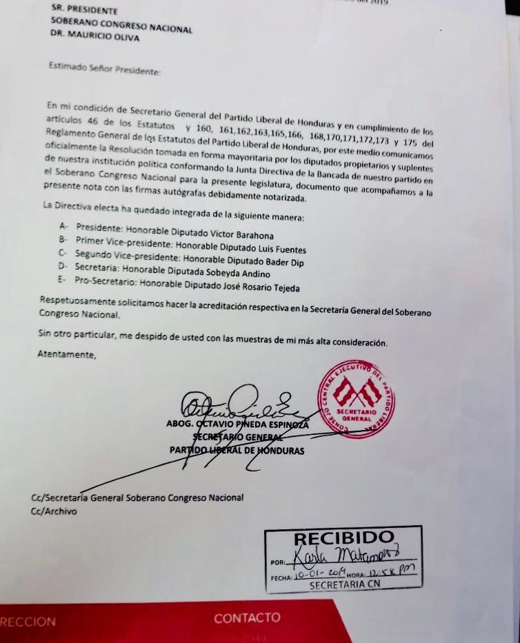 Carta PL a Mauricio Oliva