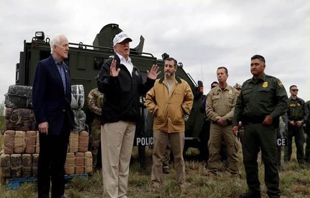 Donald Trump en la frontera