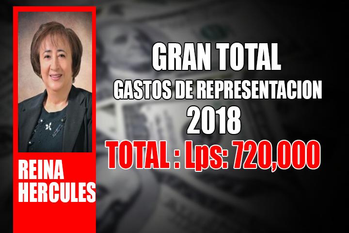 REINA HERCULES GASTOS DE REPRESENTACION GRAN TOTAL