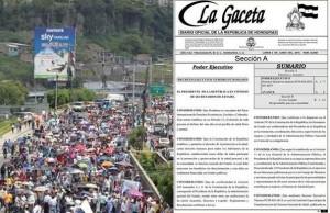 Publicacion en La Gaceta